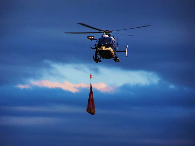 Hélicoptère de la Gendarmerie....