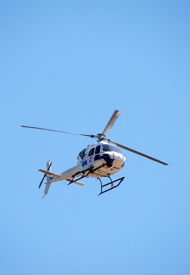 Helicoptère du tour