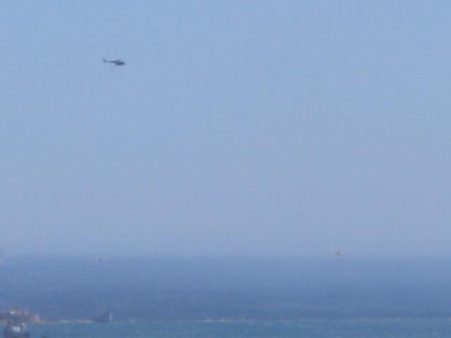 Hélicoptère en surveillance