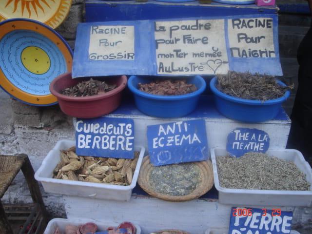 Herboriste au maroc