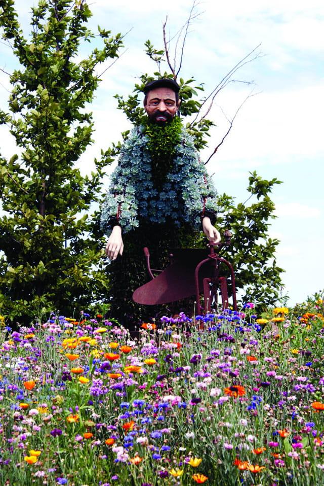 Homme/fleurs