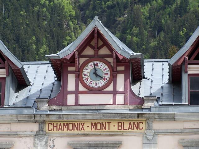 Horloge de la gare de chamonix