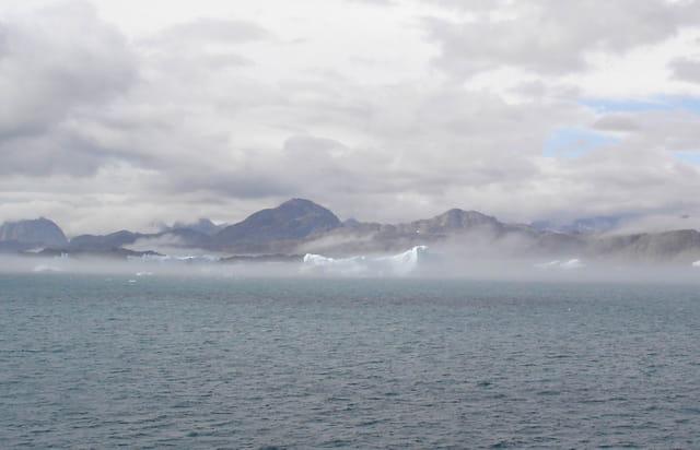 Icebergs dans la brume