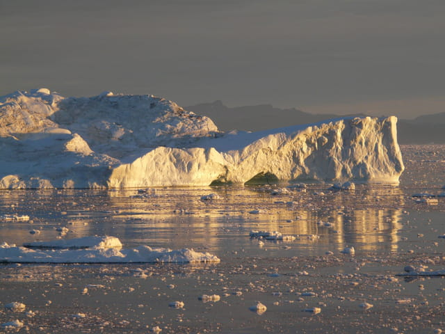 Icebergs dorés