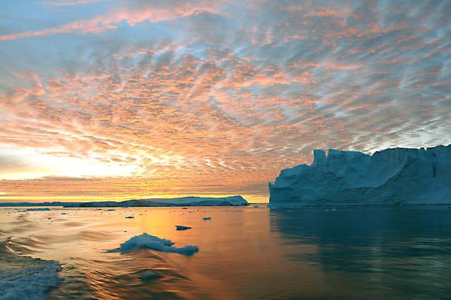 Icebergs en feu