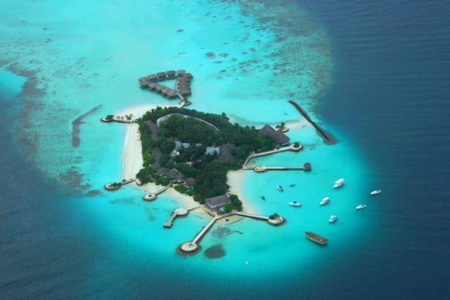 Ile-hôtel des Maldives