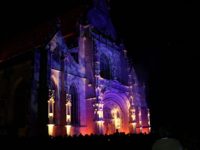 Illuminations de l'église de Brou