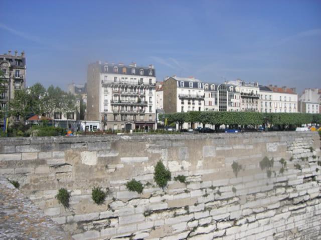 Immeubles vue sur château