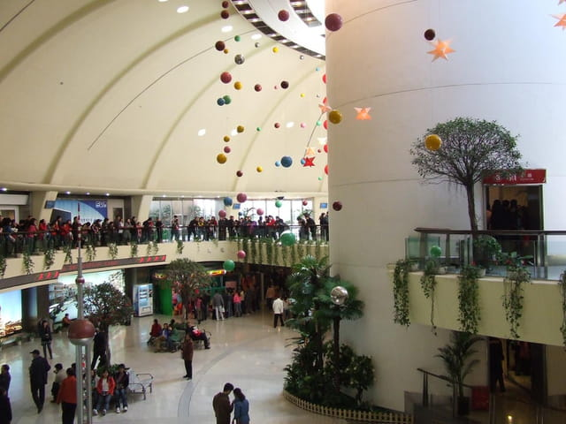 Inside oriental pearl tower