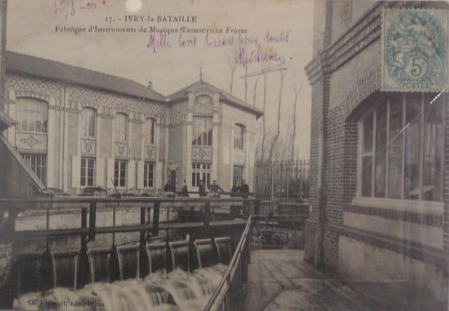 Ivry la Bataille, Usine Thibouville (Carte-Postale ancienne)