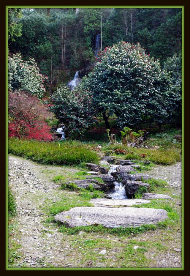 Jardin de cascades à Trévarez