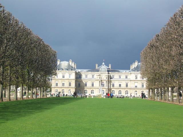 Jardin du Luxembourg sous l'orage