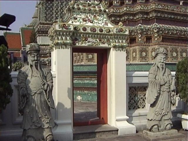 Jardin du temple  Bbouddha à Bangkok