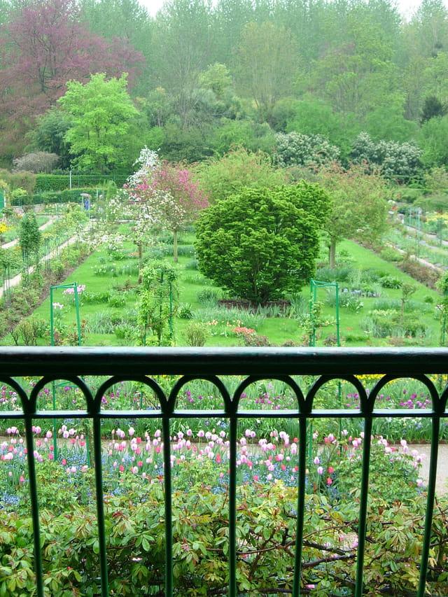 Jardin Monet vu du balcon