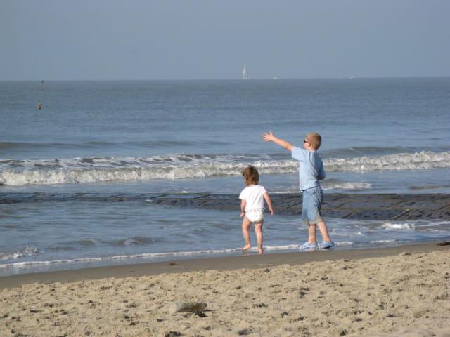 Jeux de plage en octobre
