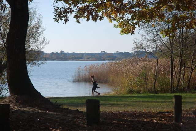 jogging au bord du lac
