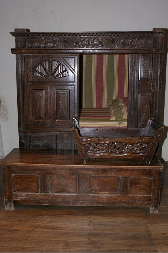 Journée du patrimoine au château de Kerjean, lit clos
