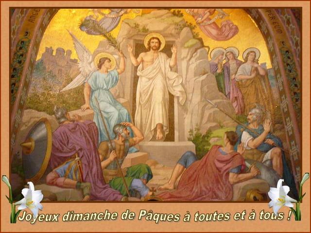 Joyeux dimanche de Pâques à toutes et à tous !