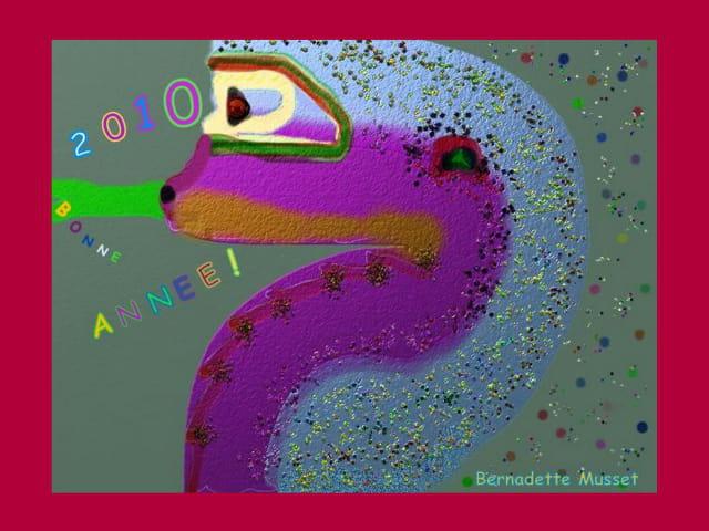 Joyeux serpent Bonne Année 2010
