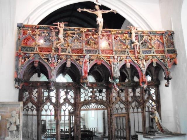 Jubé de la chapelle Saint-Fiacre, au Faouët