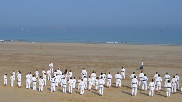 Judo sur la plage