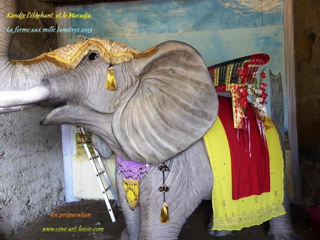 Kandjy l'éléphant en préparation