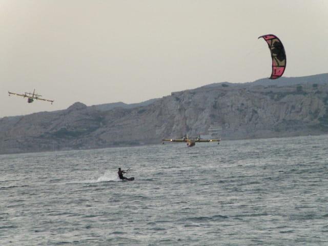 Kite surf un jour de feu