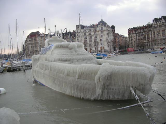 L'age de glace sur le leman