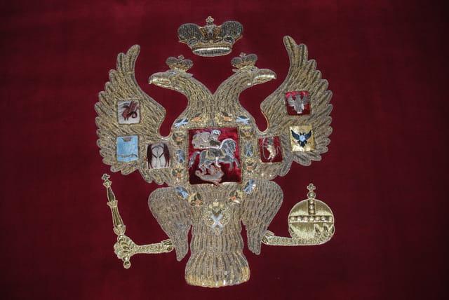 l'aigle bicéphale, l'emblème des Tsars de Russie