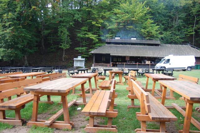 l'aire de pique nique dans le parc Naturel des lacs de Plitvice Jezera