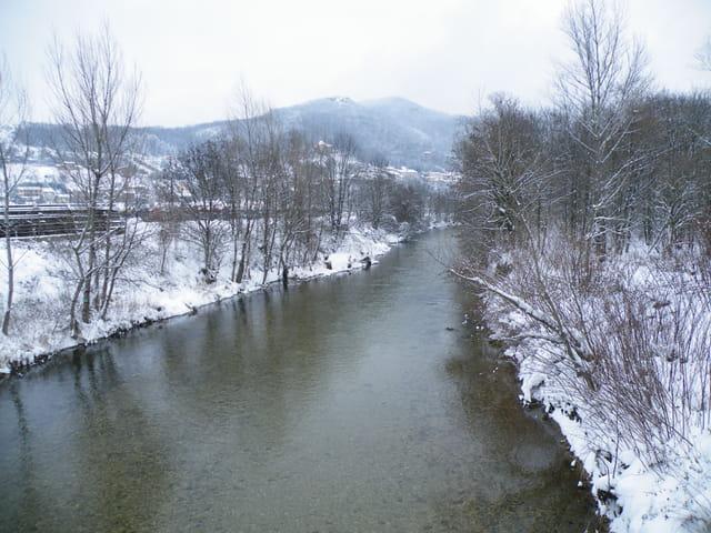 L'Albarine sous la neige