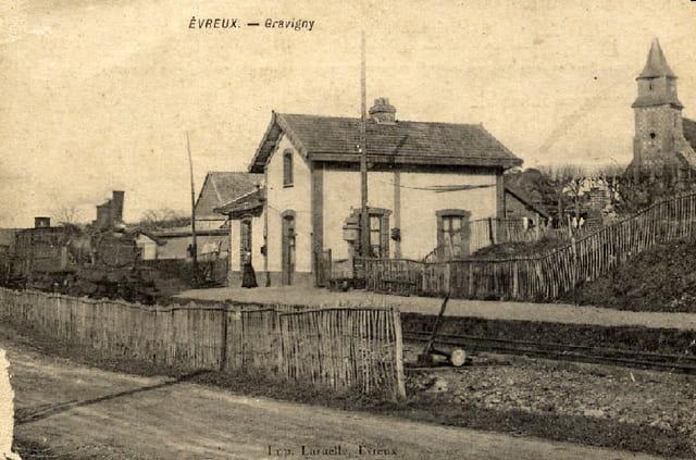 L'ancienne gare de Gravigny