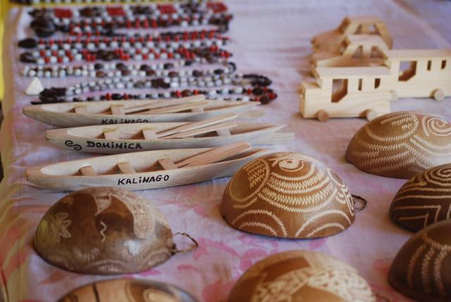 l'artisanat des Indiens Kalinagos