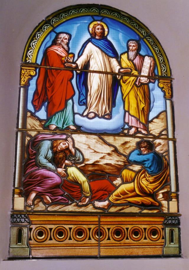 L'ascension du Christ,vitrail coté nord (19e)