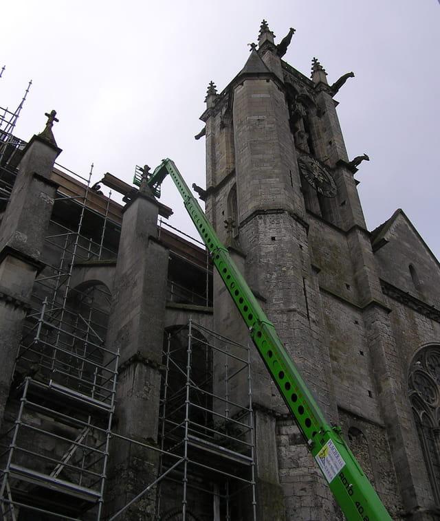 L'église de Moret en restauration