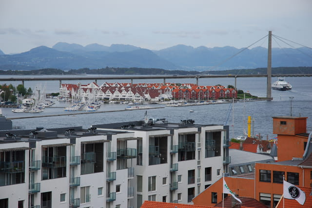l'entrée du port de Stavanger