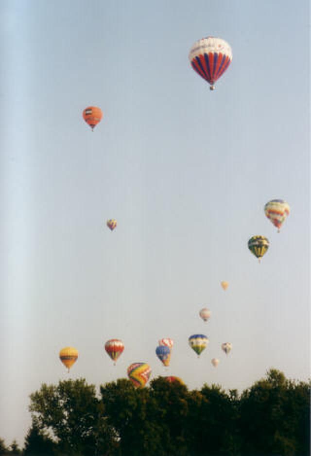 L'envol : multibulles multicolores