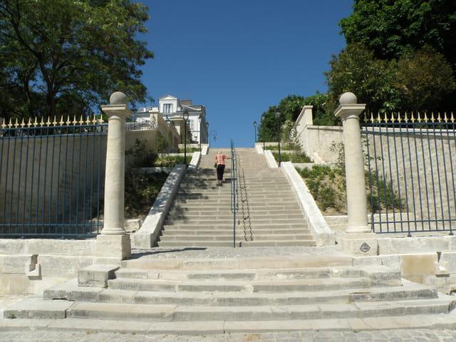 L'escalier de la Rampe des Grottes