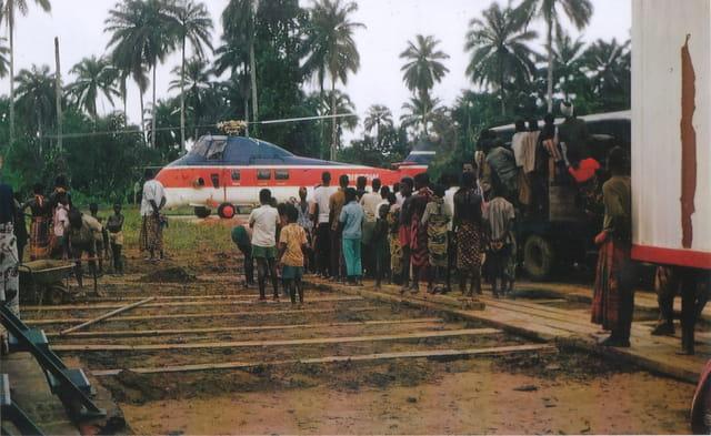 L'hélicoptère de relève