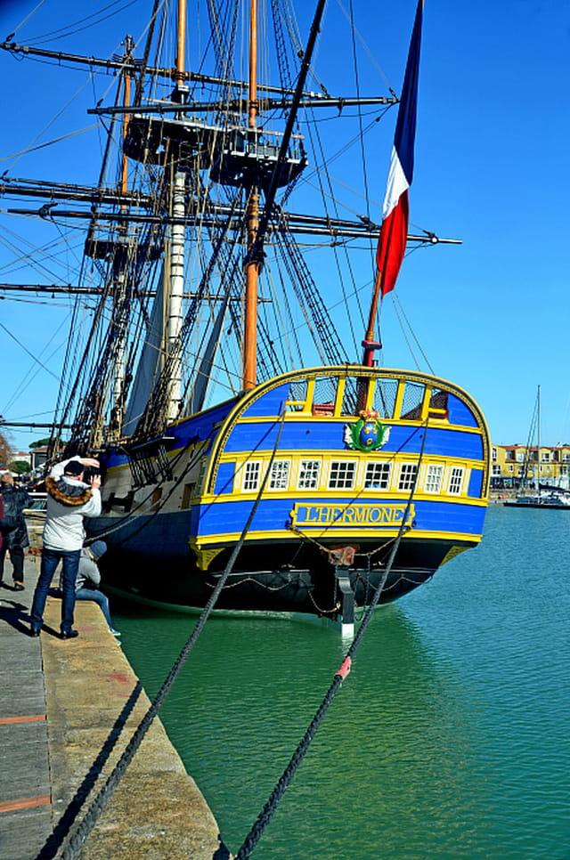 L'Hermione amarré à La Rochelle