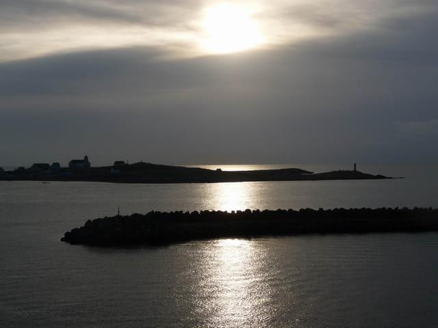 L'Ile aux marins, au lever su soleil
