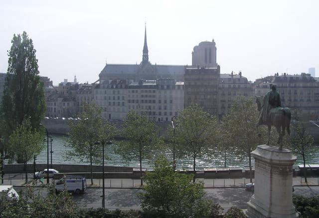 L'ile de la Cité et notre-dame