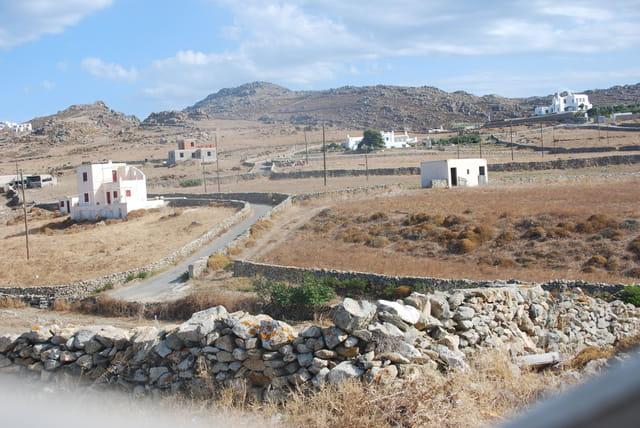 l'interieur de l'île de Mykonos