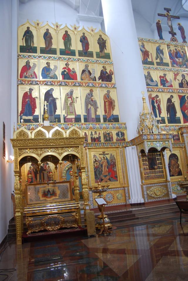 l'intérieur de la Cathédrale de la Dormition