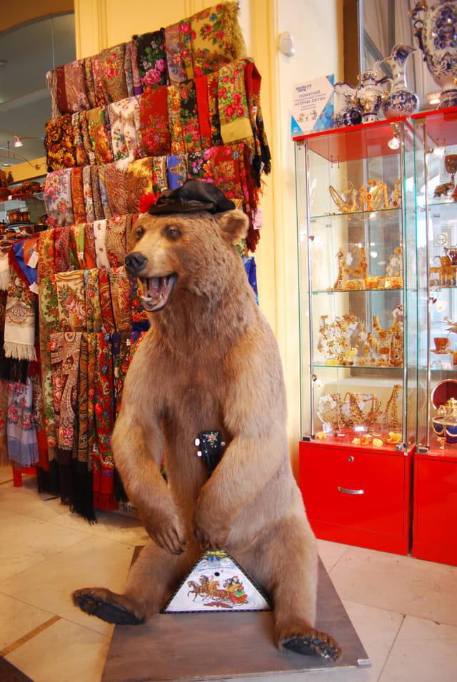 l'ours du magasin Goum