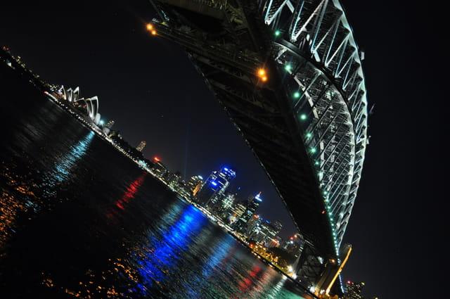 La baie de Sydney by night
