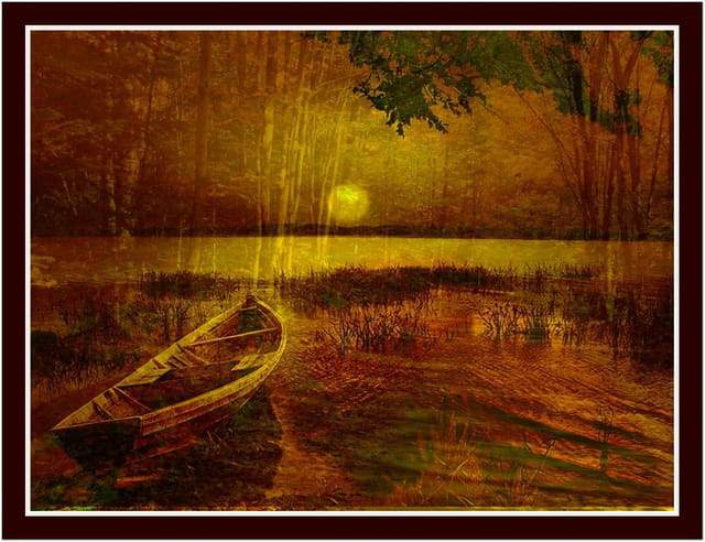 La barque au clair de lune...