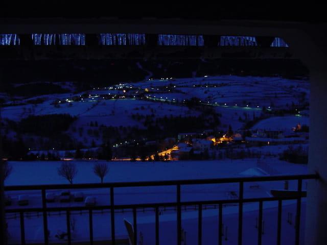 La Cabanasse, sous la neige de nuit