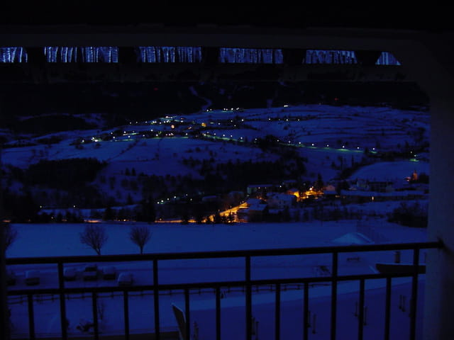 La Cabenasse,sous la neige, de nuit
