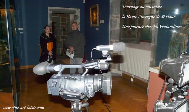 Tournage au Musée de la  Haute Auvergne de St Flour